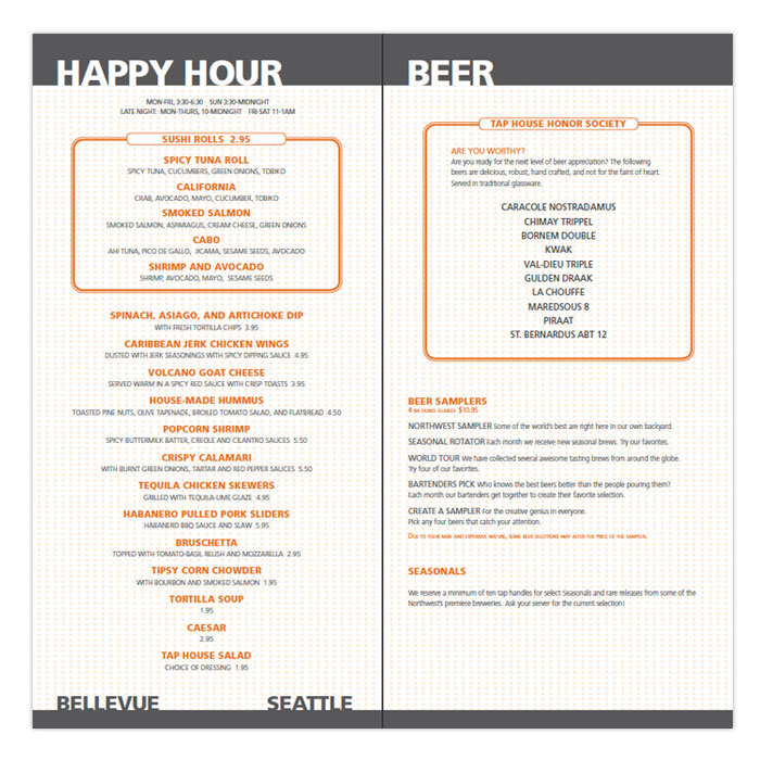 tap house grill menu